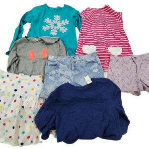 Girls Clothing Lot of 7 Size 14 L XXL Dress Skirt Shorts Lands End Under Armour $39.99