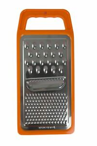 Home Basics 3 Way Cheese Hand Held Flat Cheese Grater, Orange