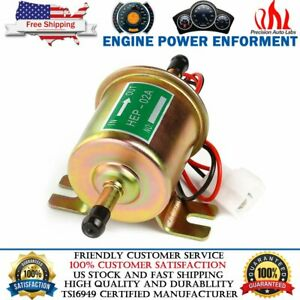 Universal Electric Inline Fuel Pump 12V For Lawn Mowers Small Engine Gas Diesel $14.59