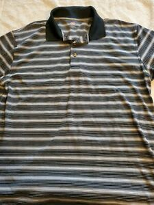 2 Under Mens XL Black amp; White Stripe Polo Shirt. CB2 $12.30