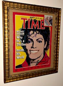 ANDY WARHOL -Magazine Cover Time hand Signed(no PicassoHaringBasquiatPop Art) $199.99