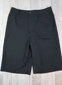 Under Armour Youth Boys XL Heatgear Golf Shorts Loose Fit Black Color 32x23 $14.99