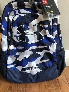 Under Armour UA Storm Scrimmage Backpack BLUE WHITE CAMO, Camp Travel School 25L $39.99