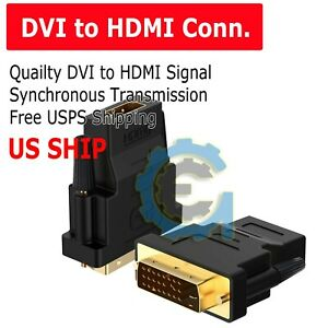 DVI D Male 241 pin to HDMI Female 19 pin HD HDTV Monitor Display Adapter