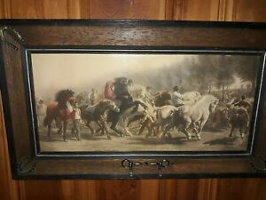 19th Century Chromolithograph ~Rosa Bonheur The Horse Fair~ $50.00