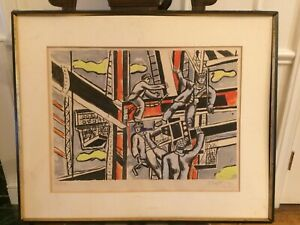 Vintage Colored Lithograph by Fernand Leger Signed and Numbered $750.00