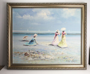SIGNED Original Marie Charlot OIL PAINTING