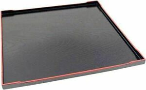 Japanese Restaurant Style Lacquerware Serving Tray Assorted Sizes Black Plastic