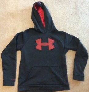 Under Armour Storm1 Youth Boys XL Black Red Loose Hoodie EUC $10.79