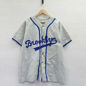Vintage Brooklyn Dodgers Cotton Baseball Empire Jersey XL MLB Union Made 50s 60s $179.99