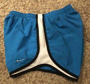 Woman's Nike Dri Fit Tempo Blue Black Running Shorts Size Small EXCELLENT $10.99