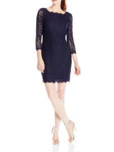 Adrianna Papell Lace Sheath Dress MSRP $169 Size 16 # 20B 443 NEW $27.99