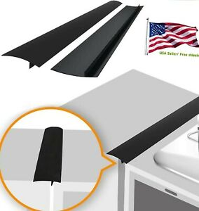 Kitchen Stove Counter Gap Silicone Cover Filler Strip Oven Guard Seal 2 Pcs