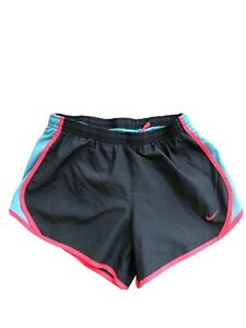 Nike Dri Fit Running Shorts With Built in Brief Girl's Size Medium Gray $15.99