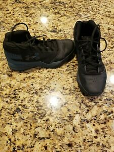 Boys Under Armour Hi Top Black Basketball Shoes •Youth Size 5.5 $22.99