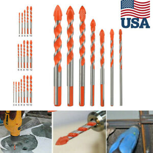 Multifunctional Ultimate Drill Bit Ceramic Glass Punching Hole Working 6mm-12mm