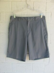 MENS NIKE GOLF SHORTS SZ 34 DRI FIT COLOR GRAY PRE OWNED $9.99