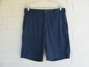 MENS NIKE GOLF SHORTS SZ 33 DRI FIT COLOR BLUE PRE OWNED $11.00