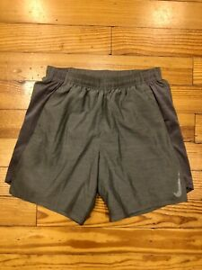 """Nike Men's Running Shorts Challenger 7"""" Brief Lined AJ7687 Gray 057 Size S Small $24.99"""
