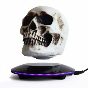 Magnetic Levitating Levitate 3D Skull LED Night Light with Touch Button Base