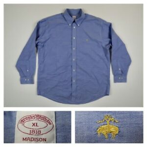 Brooks Brothers Men's XL Blue Chambray Long Sleeve Oxford Button Sport Shirt $44.99