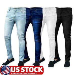 Fashion Mens Slim Fit Jeans Super Stretch Denim Pants Slim Skinny Designer Jeans