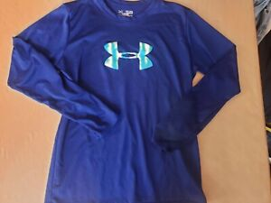 BOYS UNDER ARMOUR PURPLE L S LOOSE FIT HEAT GEAR SHIRT SIZE YOUTH XL $4.00