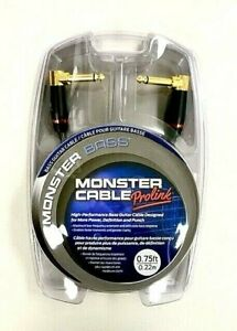 Monster Prolink Bass 1 4quot; Guitar Cable 1 4quot; Dual Angled 0.75 ft $24.99