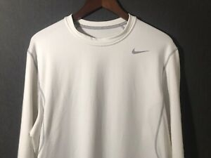 Nike Pro Combat Men's Fitted Dri Fit Shirt White Size Extra Large XXL 2XL $10.25