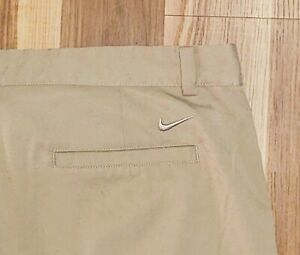 Mens Nike Golf Dri Fit Flat Front Golf Shorts Size 40 Beige $16.99