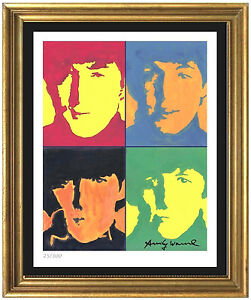 Andy Warhol Signed Hand Numbered Ltd Edtion quot;The Beatlesquot; Litho Print unframed $129.99