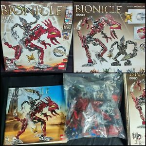 LEGO Bionicle Warriors 8990: Fero amp; Skirmix complete open box pre owned