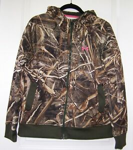 Under Armour realtree max 5 camo zip up jacket sweatshirt hoodie womens large $19.99