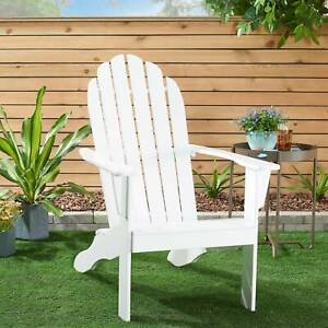Mainstays All weather Indoor Outdoor Patio Garden Lawn Adirondack Chair White