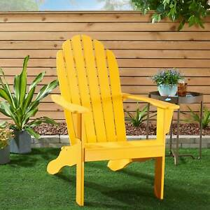 Mainstays All weather Indoor Outdoor Patio Garden Lawn Adirondack Chair Yellow