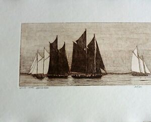 JONATHAN TALBOT ORIGINAL ETCHING quot;ON THE SOUNDquot; $35.00
