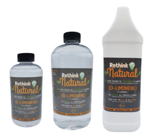 All Natural Non Toxic Citrus Cleaner Degreaser by Rethink Natural D#x27;Limonene