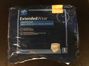 MEDLINE EXTENDED WEAR UNDER LARGE. 14 COUNT $17.99