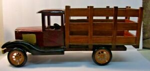 Vintage Wooden Replica of an Antique Truck 15quot; long x 6 1 2quot; tall x 5quot; wide $11.25