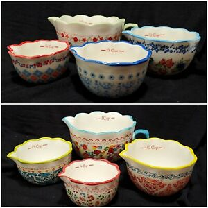 Pioneer Woman 4 pc Nesting Measuring Cup Set you choose color amp; design baking