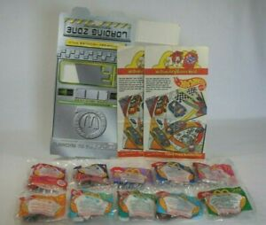 2000 McDonald#x27;s Hot Wheels Once in a Lifetime 10 CARS MIP Collector Case Bags