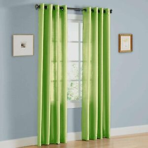 Home Window 2 Panels Faux Silk Solid Curtain Drapes with Grommet Solid Colors . $22.89
