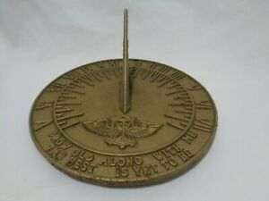Lovely Cast Iron Golden Hour Sundial Grow Old With Me Time 10 inches Heavy