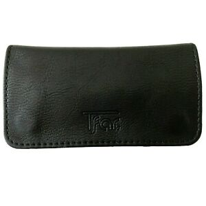 Rolling Tobacco Pouch Wallet Purse Case For Rolling Cigarette Black Pu Leather