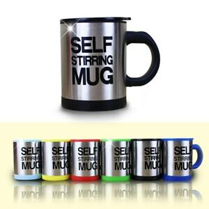 Mug Coffee Self Auto Stirring Cup Tea Stainless Mixer Drink Mixing Cup With Lid
