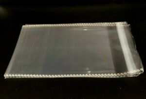 Clear Resealable Self Adhesive Seal Cello Lip amp; Tape Plastic bags 1.5 mil thick