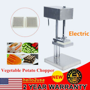 Electric Potato French Fries Cutter Slicer Vegetable Chopper 3 Blades USA