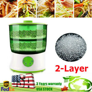 Household Automatic Bean Sprouts Machine 2 Layer Bean Seed Sprouter Machine Good