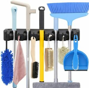 Broom Holder and Garden Tool Organizer Rake or Mop Handles Up to 1.25 Inches AKA $10.98