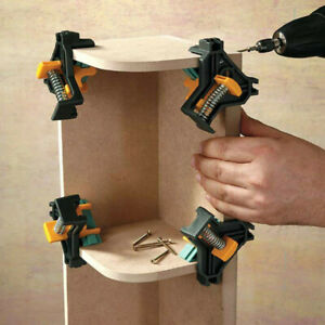 90° Right Angle Corner Clamp Clip Fixer Ruler Clamp Woodworking Hand Tool $4.79